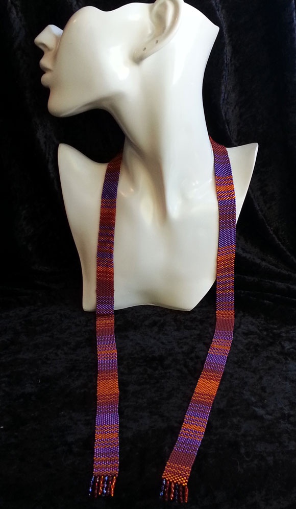 5th Doctor Doctor Who beaded scarf necklace