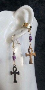 Ankh-Fresh-Water-Pearl-Single-earcuff-and-earring-set-2-150x300