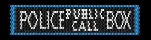 KC Dragonfly - Police Public Call Box peyote stitch bracelet