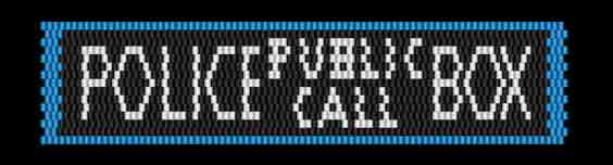 T is for Tardis - Police Public Call Box peyote stitch bracelet