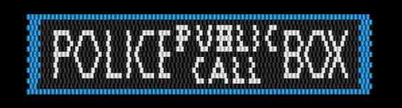 T is for Tardis - Police Public Call Box peyote stitch bracelet