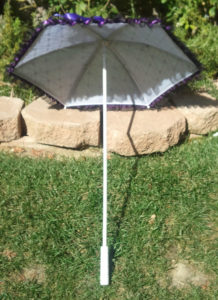 KC Dragonfly - Black and Purple Spider Web parasol -interior