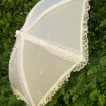 KC Dragonfly - Wedding Basic Off White parasol - top - profile