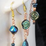 Asymmetrical Midnight Spiral ear cuff and earring set by KCDragonfly 163×300