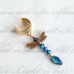 Dragonfly Priestess Single ear cuff by KCDragonfly 228x300