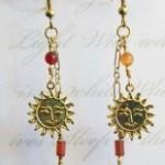 Carnelian Healing Sun Goddess feather duster earrings by KCDragonfly 155×300
