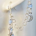 Silver Pale Moon ear cuff by KCDragonfly 157x300