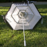KC Dragonfly – Wedding Mae West Parasol – black and white – top interior