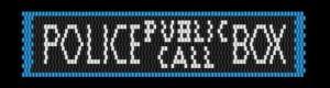 KC Dragonfly - Police Public Call Box peyote stitch bracelet