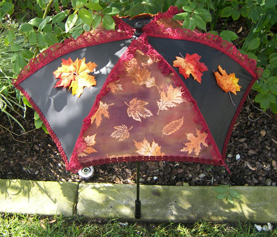 KC Dragonfly - Autumn Leaves Parasol - full