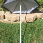 KC Dragonfly - Black and Purple Spider Web parasol -interior