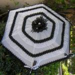 KC Dragonfly – Black and White Mae West wedding parasol v2