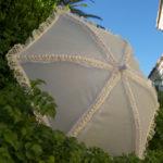 KC Dragonfly - Wedding Basic Off White parasol - 3 quarter view