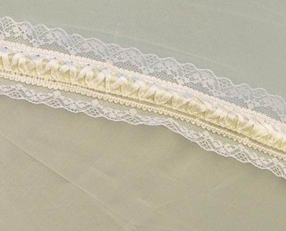 KC Dragonfly - Wedding Basic Off White parasol - top - detail - rib lace