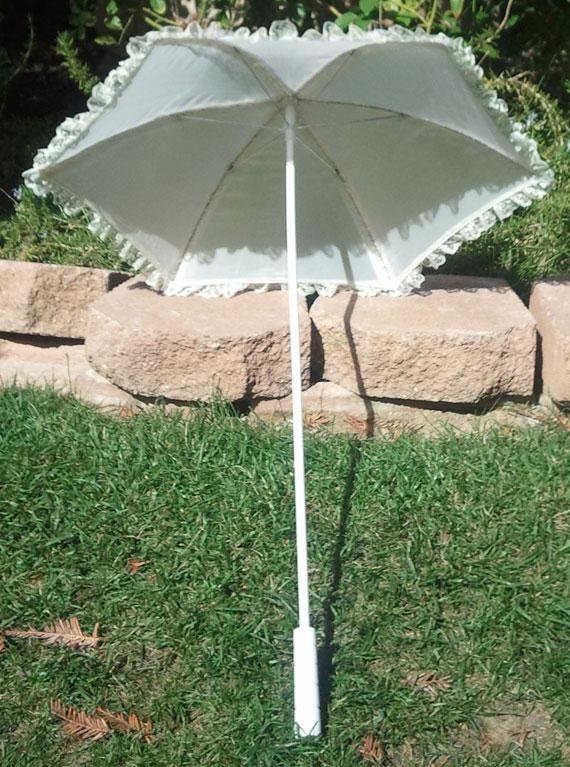 KC Dragonfly - Wedding Basic Off White parasol - top - interior