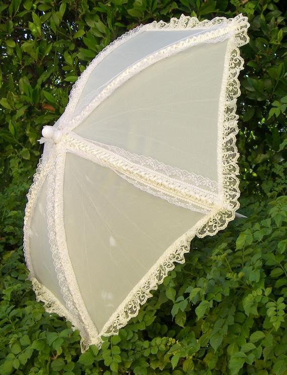 KC Dragonfly - Wedding Basic Off White parasol - top - profile