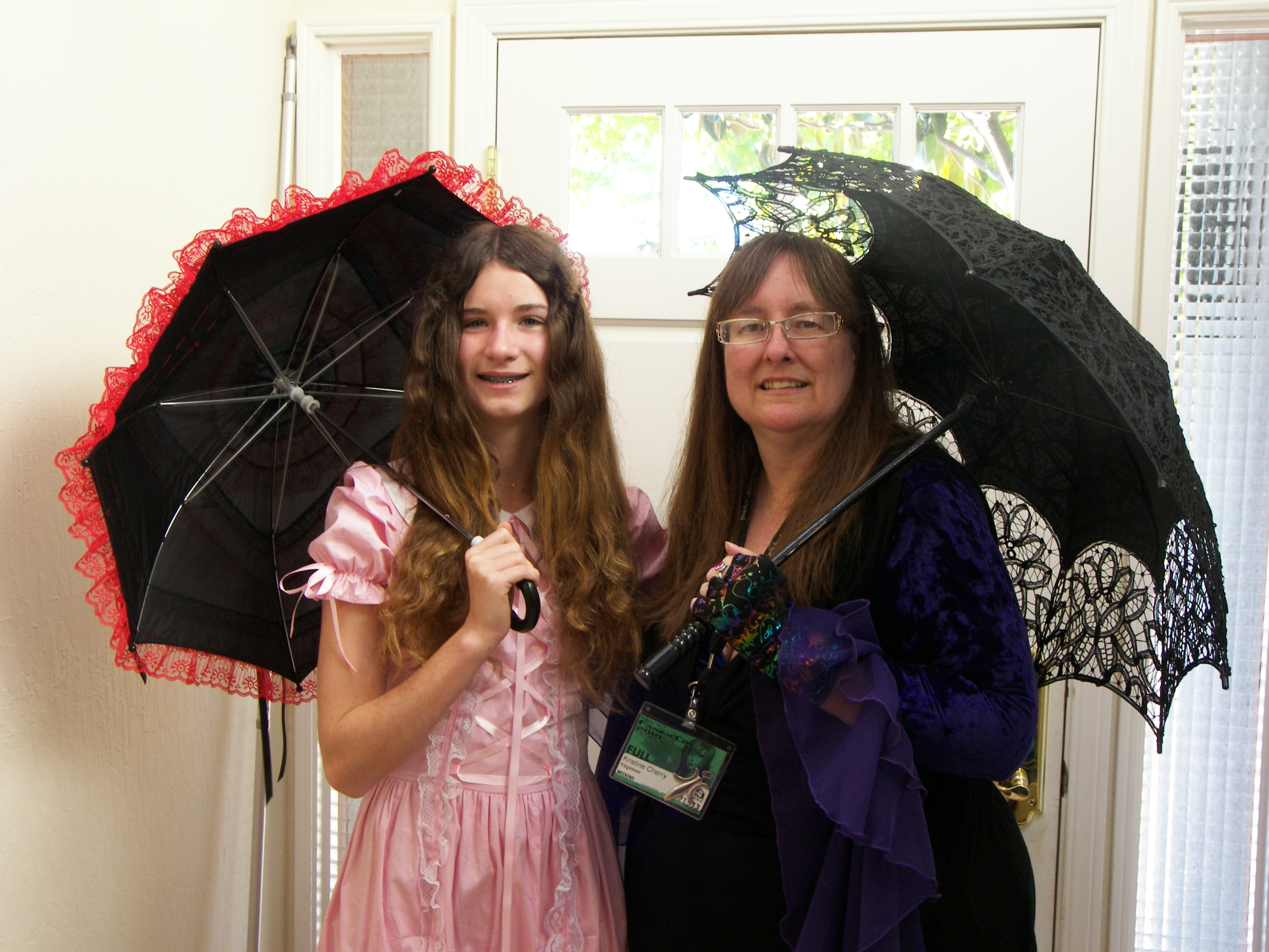 KC Dragonfly - Kristine and Annie with parasols