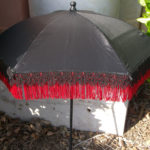 black red fringed parasol top by KCDragonfly