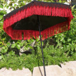 black red fringed parasol upright slanted by KCDragonfly