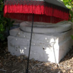 black red fringed parasol upright straighter by KCDragonfly