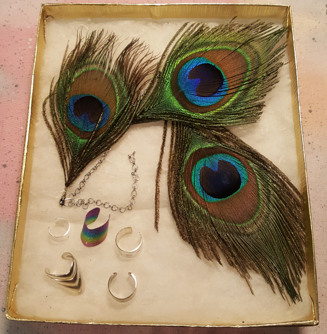 peacock ear cuff by The Ears Have It