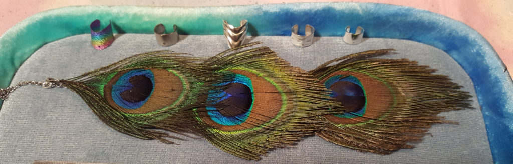 peacock ear cuff final by The Ears Have It