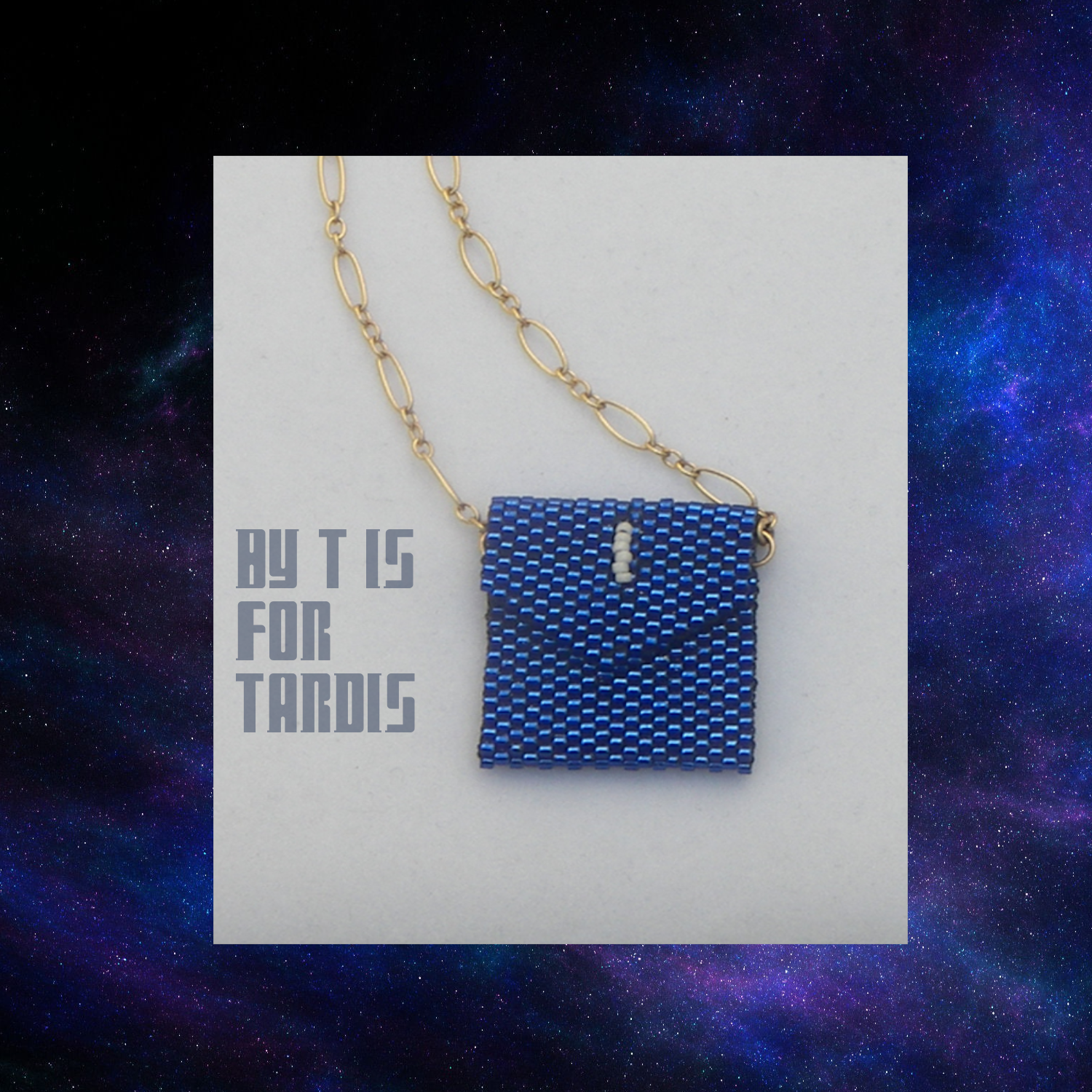 tardis blue envelope closed on chain by KC Dragonfly