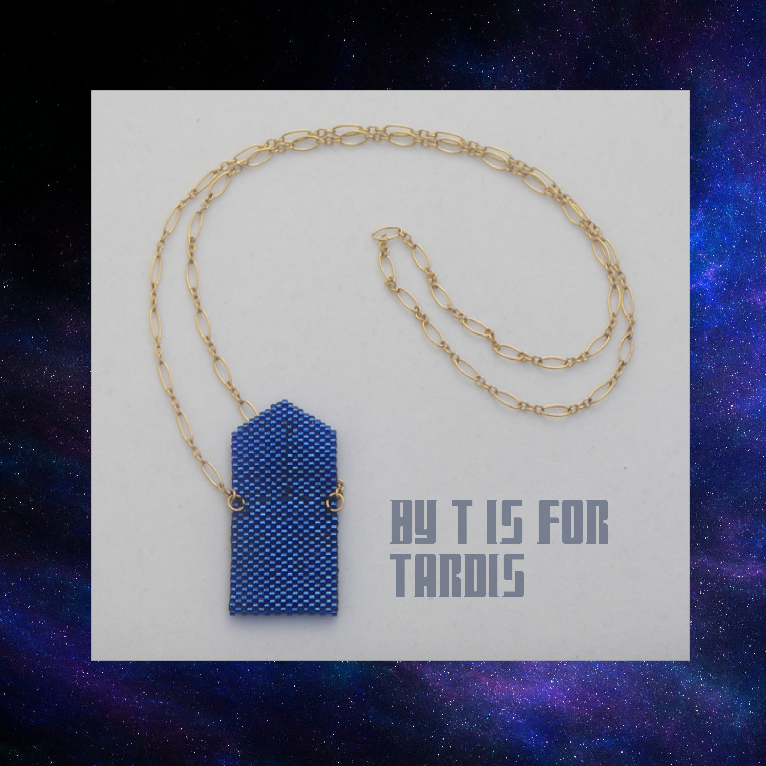 tardis envelope open on chain inside by KC Dragonfly