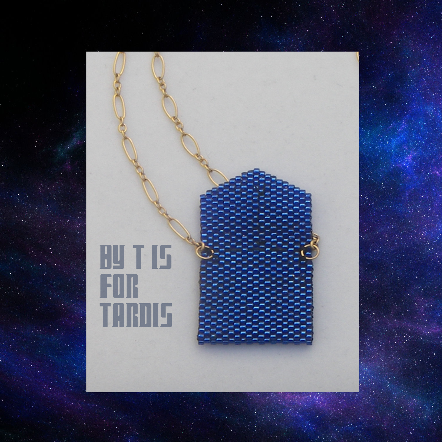 tardis envelope open on chain inside closeup by KC Dragonfly