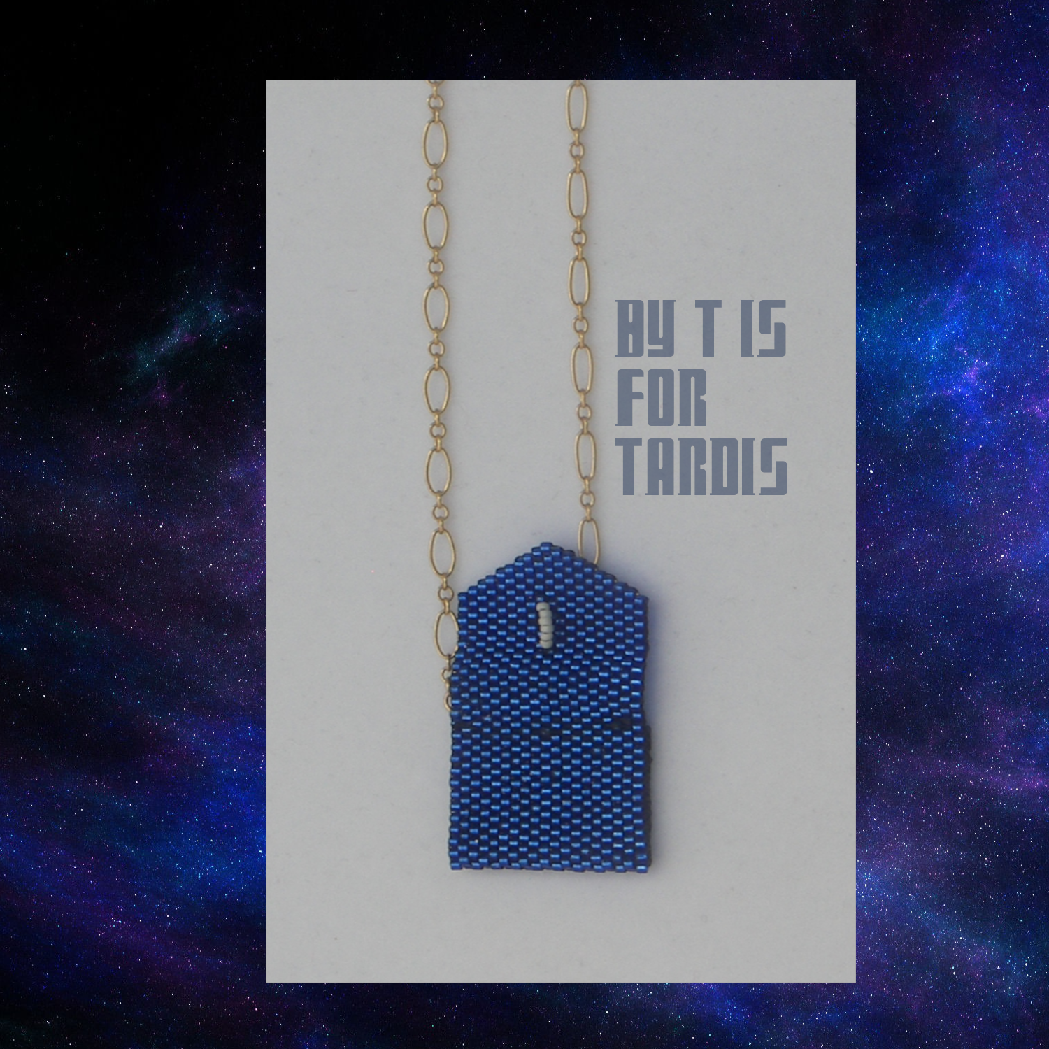 tardis envelope open on chain outside by KC Dragonfly