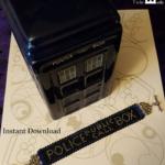 police public call box bracelet – final listing image