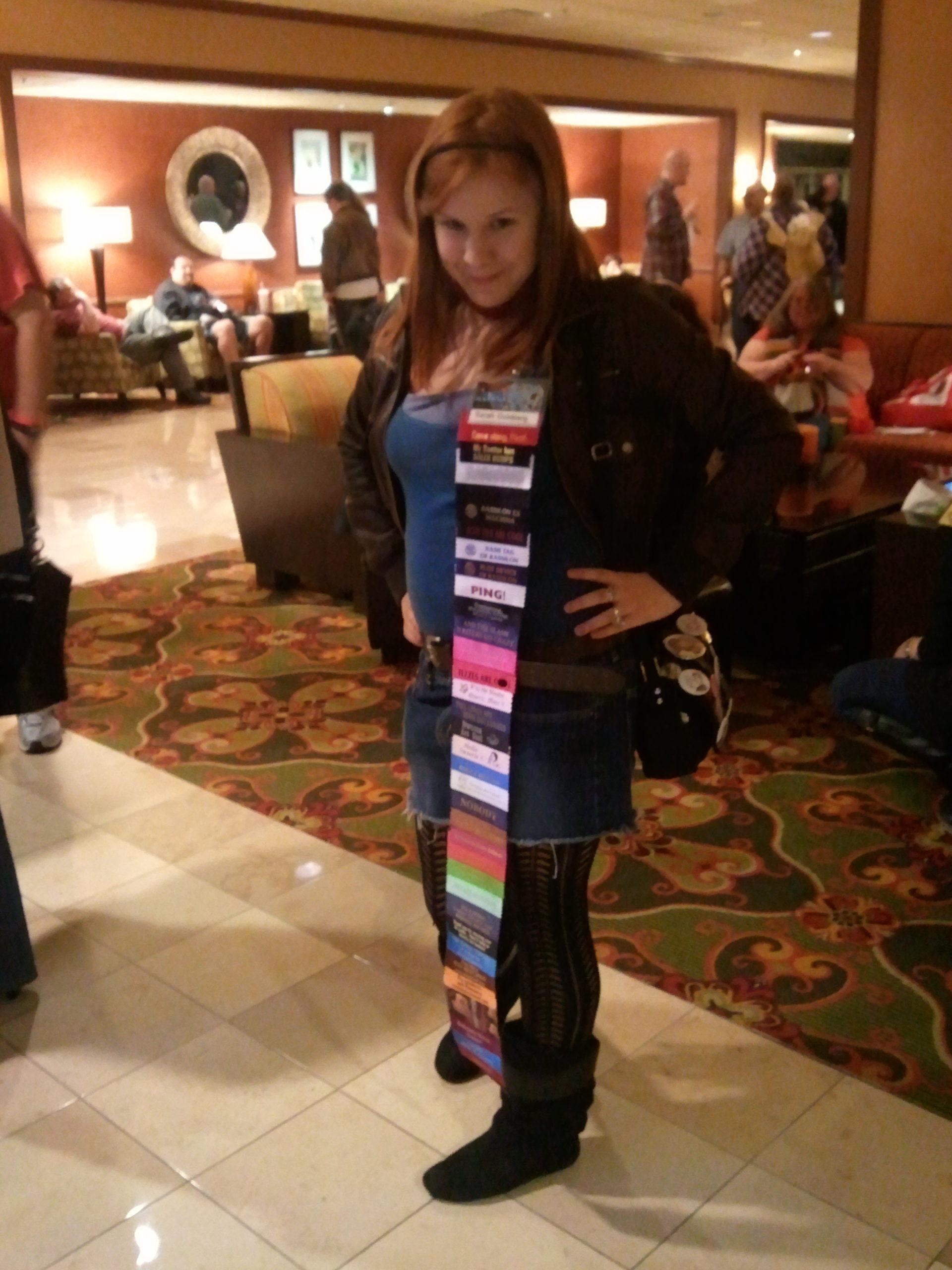 gallifrey one lobby con ribbon whore
