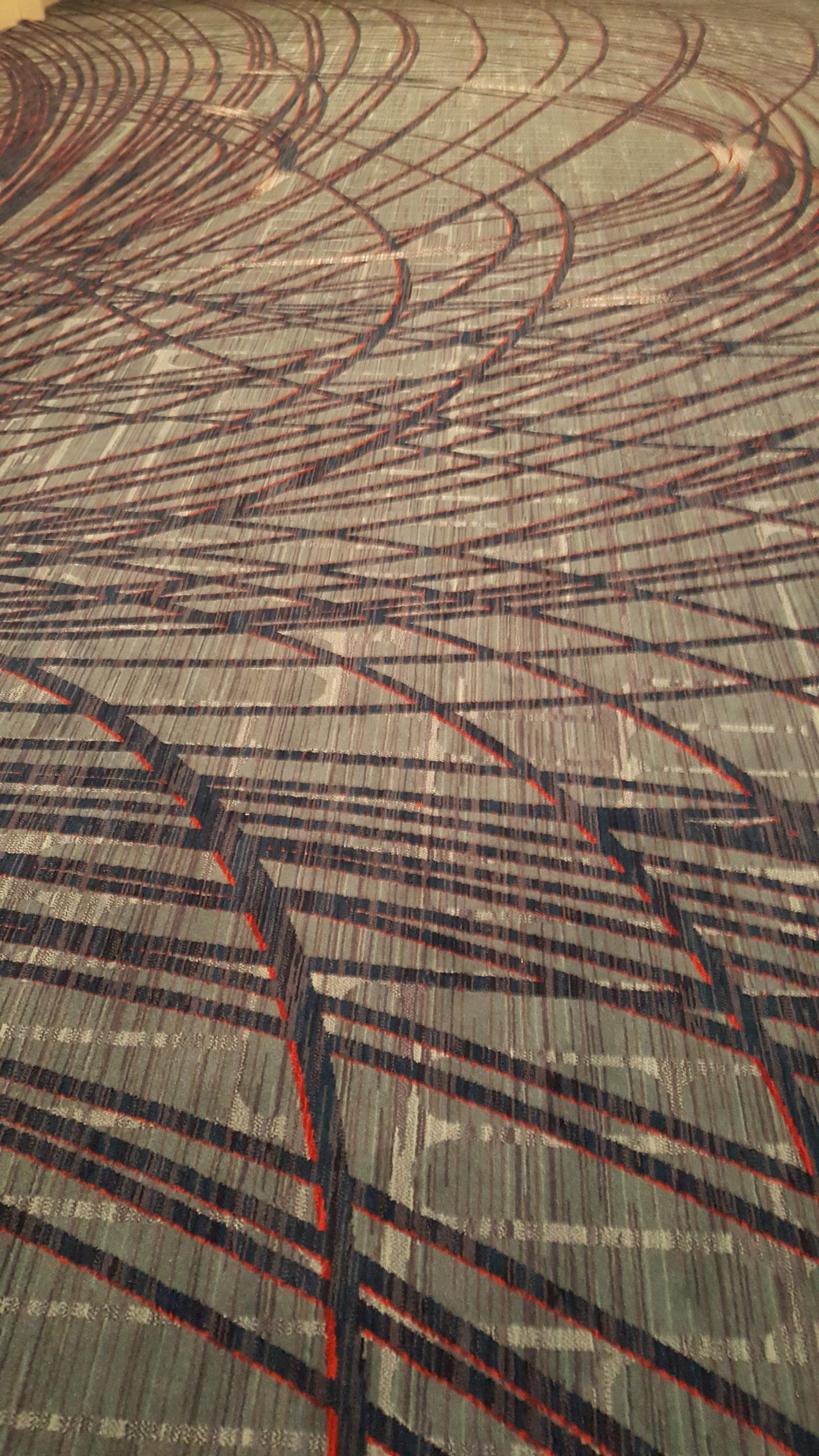 new LAX Marriott carpet - fugly design 1