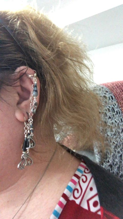 kat with new ear cuff