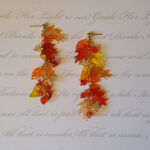 123 fall leaf and crystal earrings