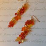 123 fall leaf and crystal earrings 3