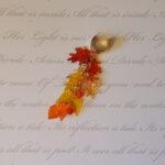 124 fall leaf and crystal ear cuff