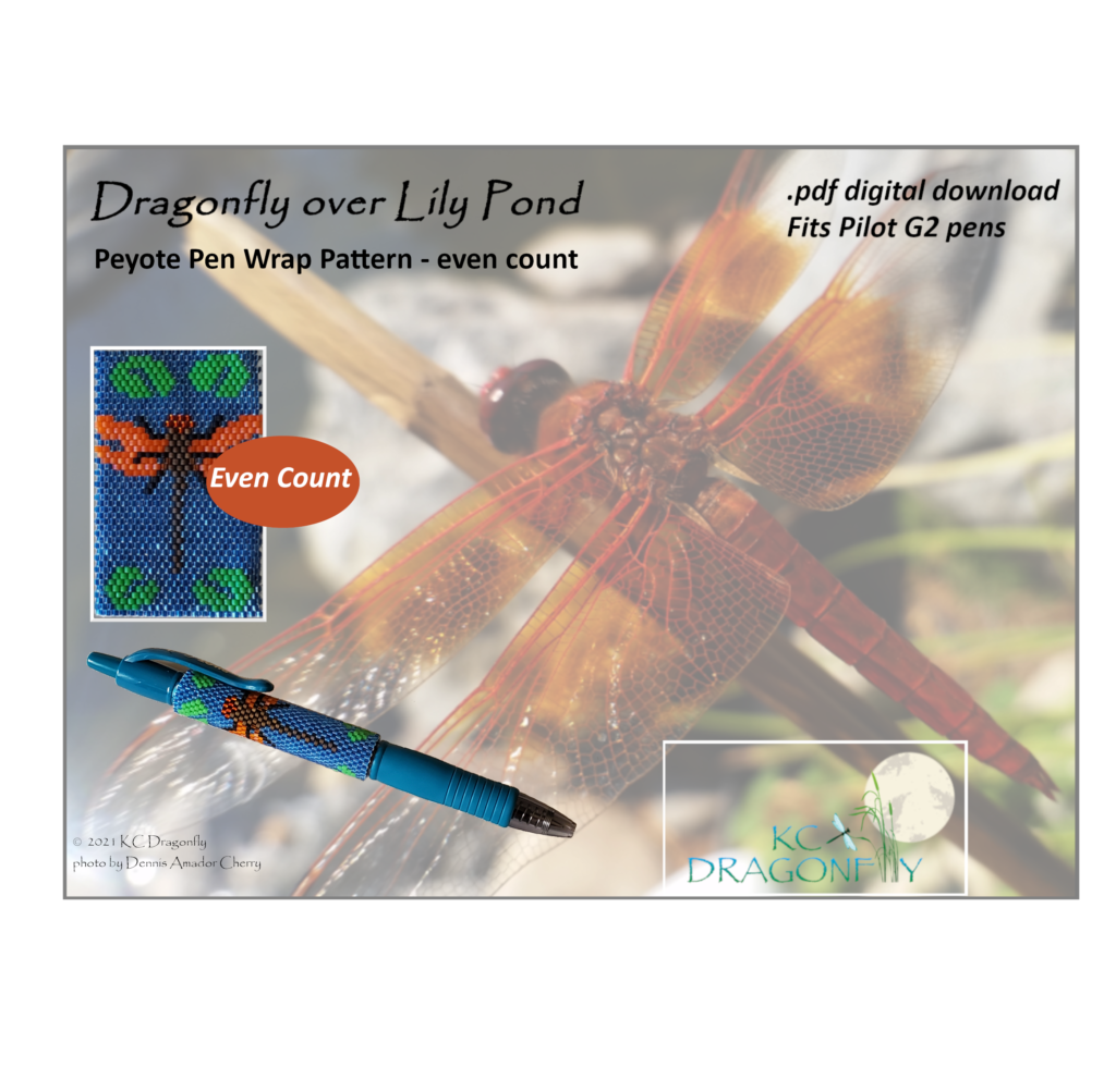 1 pen wrap cover - dragonfly pond 1