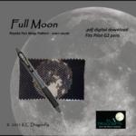 KC Dragonfly – Etsy Listing – Pen Wrap – Full Moon