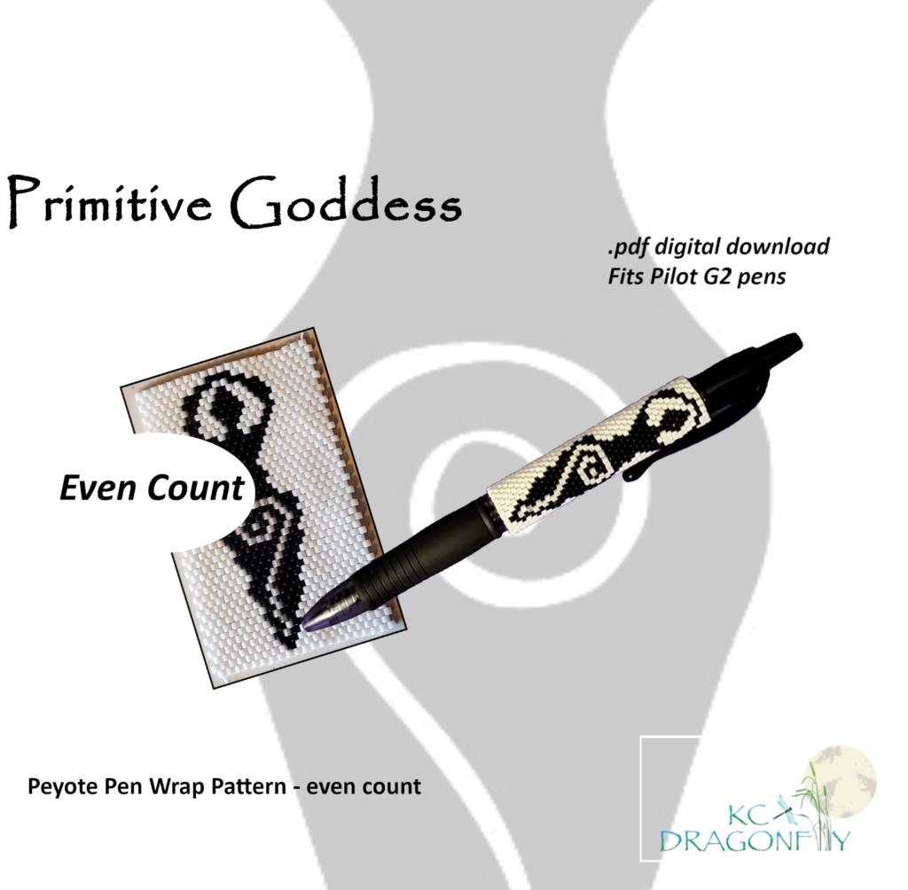 KC Dragonfly - Etsy Listing - Pen Wrap - Primitive Goddess