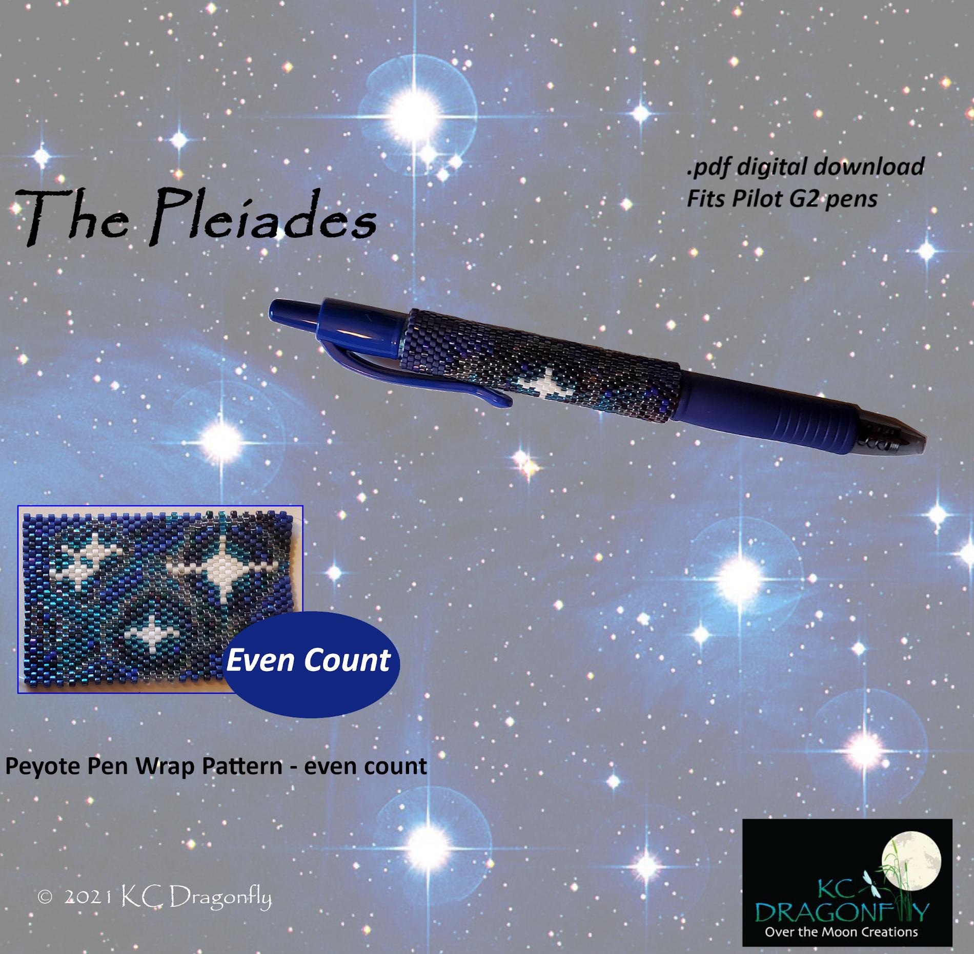 KC Dragonfly - Etsy Listing - Pen Wrap - The Pleiades