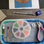 KC Dragonfly – Pen Wrap – Dragonfly Pond WIP 1