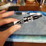 KC Dragonfly – Pen Wrap – Primitive Goddess WIP