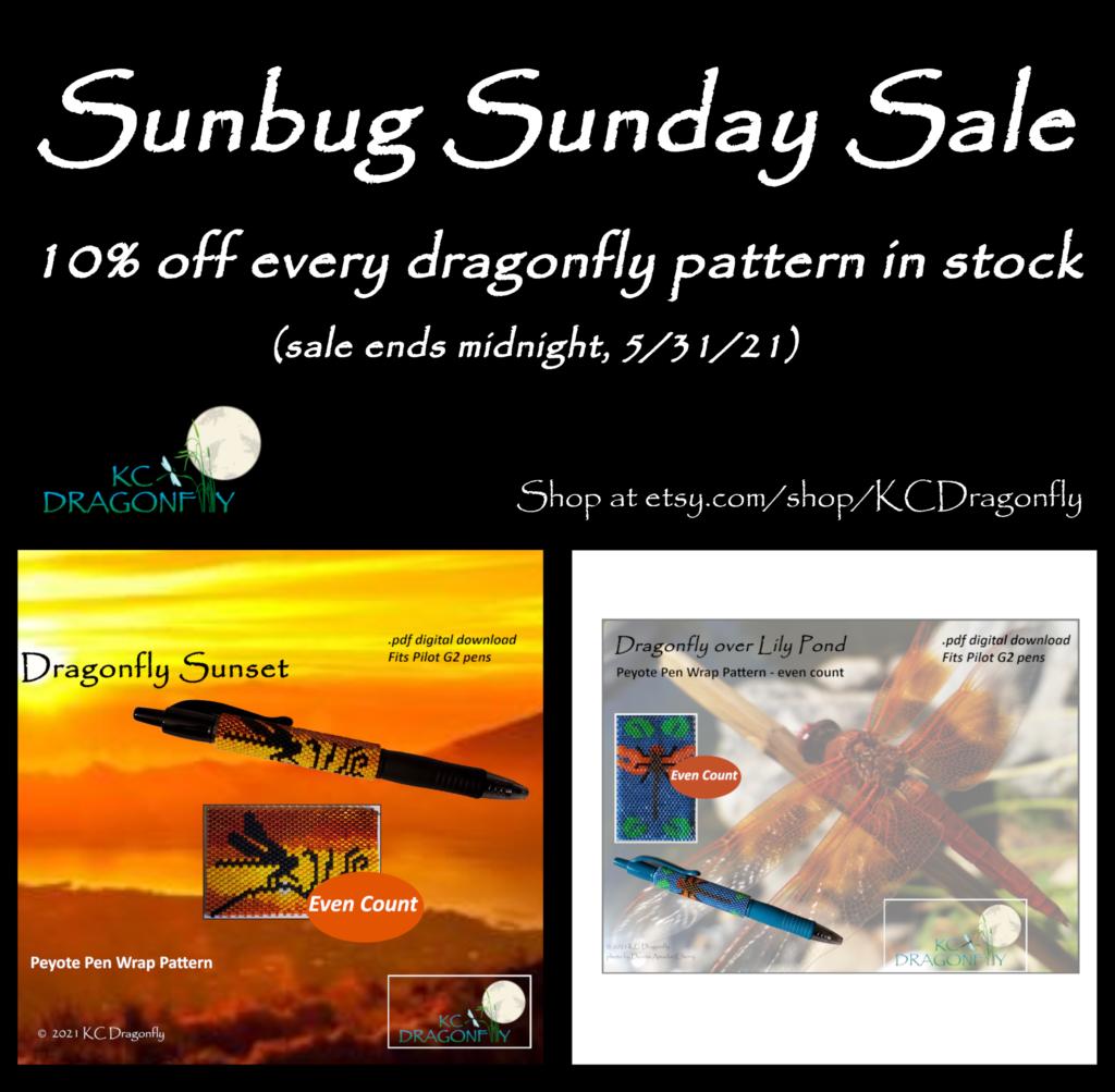 KC Dragonfly - Sunbug Sunday Sale Flyer