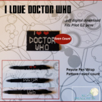 Pen Wrap – I Love Doctor Who – Etsy Listing